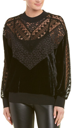 Stella McCartney Lace & Velvet Sweatshirt