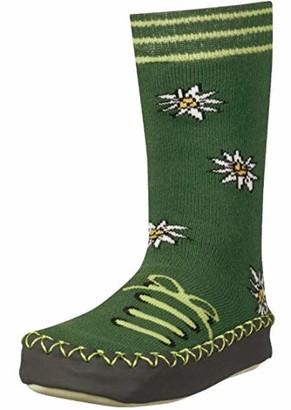 Playshoes Girl's Huttenschuhe Edelwei Knee-High Socks Green (Grun) 27-30