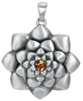 Summit Lotus Pendant - Collectible Medallion Necklace Accessory Jewelry