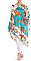 VOOM by Joy Han Silk Poncho Dress