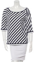 Chanel Bateau Neck Striped Top