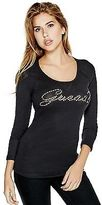 GUESS Women's Janine Long-Sleeve Top