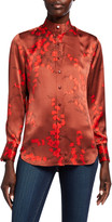 Equipment Maisa Floral Button-Down Silk Blouse