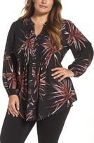 Melissa McCarthy Plus Size Women's Pintuck Pleat Blouse