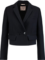 Roksanda Taporley cropped wool and silk-blend jacket
