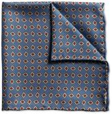 Charles Tyrwhitt Mid blue diamond print luxury pocket square
