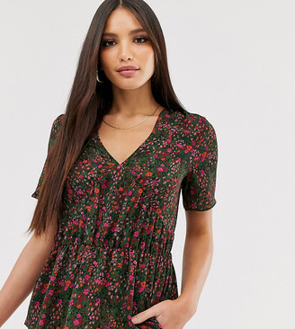 Vero Moda Tall floral tea blouse