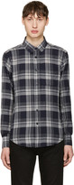 Naked & Famous Denim Grey Soft Check Shirt