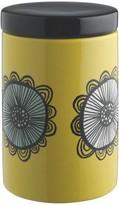 Freda Saffron floral storage jar H16cm