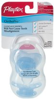 Playtex 05991 05991 6 Months+ OrthoPro Silicone Pacifiers 2 Count Assorted Colo