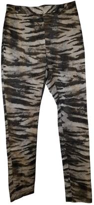 Lanvin Silver Silk Trousers for Women