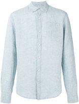 Woolrich denim shirt - men - Linen/Flax - M