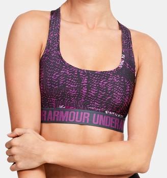 Under Armour Women's UA Crossback Mid Printed Sports Bra