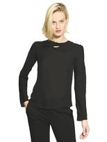 Emporio Armani Long Sleeved Silk Georgette Top