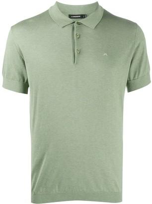 J. Lindeberg Short-Sleeved Ribbed Knit Polo Shirt