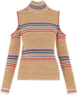 Whistles Stripe Cold Shoulder Knit