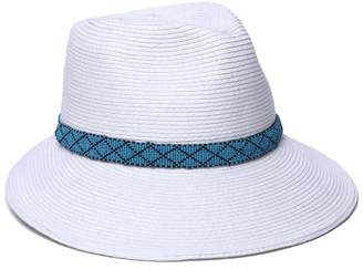 Physician Endorsed Women's Regent Asymmetrical Beaded Trim Sun Hat Rated UPF 50+ for Max Sun Protection