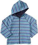 Zutano Striped Zip Hoodie (Toddler) - Periwinkle-2T