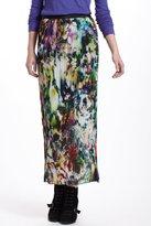 Anthropologie Flowerfield Pleated Maxi Skirt