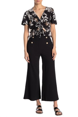 Sugar Lips All Aboard Front Button Culotte Pants