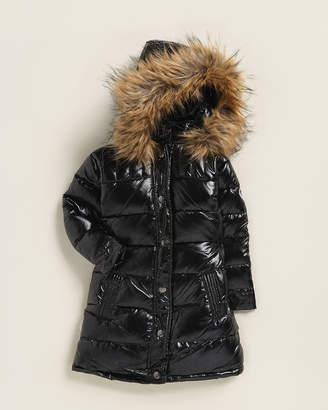 Appaman Toddler Girls) Faux Fur-Trimmed Down Coat