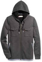 Levi's Men's Pax Textured Hooded Sweatshirt with Faux-Sherpa Lining
