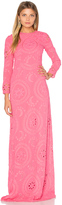 Hoss Intropia Long Sleeve Embroidered Maxi Dress