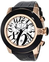 Glam Rock Women's GR32168 SoBe Chronograph White Dial Black Patent Leather Watch
