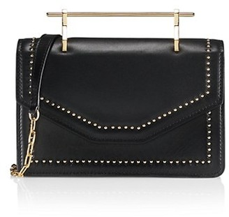 M2Malletier Indre Studded Leather Satchel