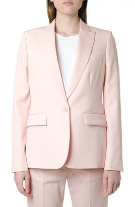 Stella McCartney Wool Blend Pink Blazer