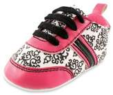 Baby Vision BabyVision® Yoga Sprout Size 12-18M Damask Sneaker in Pink/Black