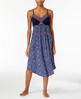 Lucky Brand Embroidered Slub Jersey Nightgown