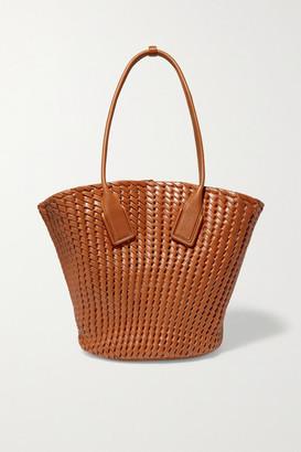 Bottega Veneta Basket Intrecciato Leather Tote - Brown