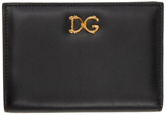 Dolce & Gabbana Black Small Baroque Wallet