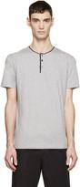Dolce & Gabbana Grey Henley T-Shirt