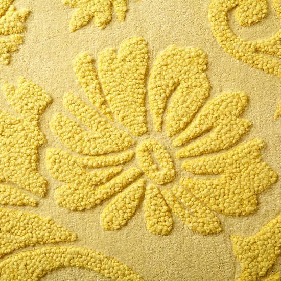 Yellow Raised Floral Rug Swatch