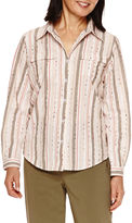 Alfred Dunner Cactus Ranch Long Sleeve Stripe Shirt