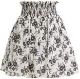 Miu Miu Floral-print smocked-waist mini skirt