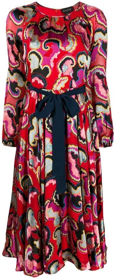 Saloni Waist-Tied Midi Dress