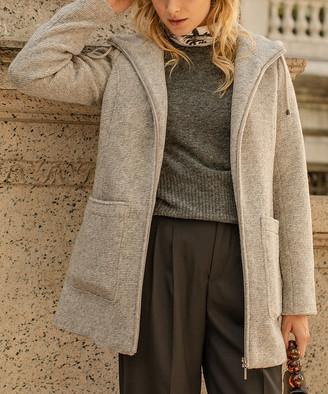 Weatherproof Women's Car Coats PEBBLE - Pebble Gray Hooded Jacket - Women & Plus