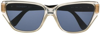Yves Saint Laurent Pre-Owned Square Frame Sunglasses