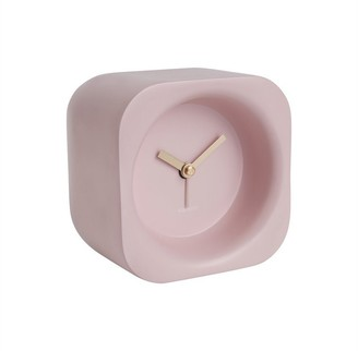 Karlsson Chunky Poly Resin Alarm Clock - Light Pink