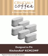 6 KitchenAid Charcoal Coffee Filters Fit KCM222 & KCM223 Water Filter Pod & Coffee Makers, Compare to Part # KCM22WF, Designed & Engineered by Crucial Coffee