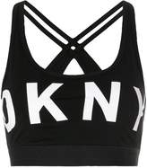 DKNY logo sports bra-top