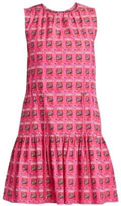 Kenzo Printed Sleeveless Cotton Flare Dress