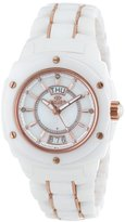 Mother of Pearl Oniss Paris Women's ON436-LRG WHT Galaxy Swiss Quartz Mother-Of-Pearl Dial Rosetone Watch
