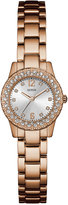 GUESS Women's Dixie Rose Gold-Tone Stainless Steel Bracelet Watch 30mm U0889L3