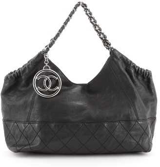 Chanel Baby Coco Cabas Quilted Leather Medium