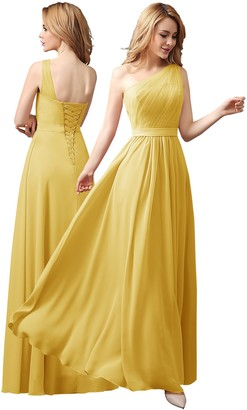 angel fashion Long Chiffon Bridesmaid Formal Ball Gown Party Cocktail Evening Prom Dress (12