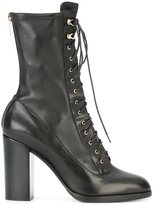 Sergio Rossi lace-up boots - women - Leather/rubber - 39